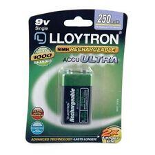 9V PP3 250 mAh Batterie Rechargeable Lloytron jusqu' à 1000 fois rechargeable