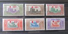 TIMBRE Colonies Françaises TUNISIE  n°53/58 NEUFS* Luxe , cote 260 Euros .