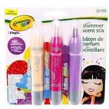 Crayola Shimmer Scent Stix Vanilla Coconut Blossom Wild Berry Girls Perfume Set