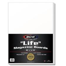 100 Bcw Life Magazine Backing Boards 10 7/8 x 14