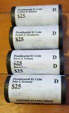 Presidential Dollar BU Roll (25) 2015-Set of Four Kennedy,LBJ,Truman, Eisenhower