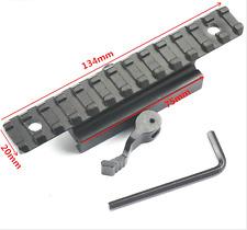 13 Slots QD 20mm Dovetail Base Picatinny Rail Mount Adapter Weaver Scope Pistol