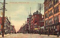 Postcard Wabash Avenue in Terre Haute, Indiana~129106