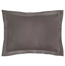 Lamont Home Charcoal Grey Gray King Chevron Pillow Sham New