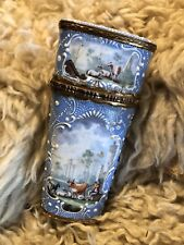 Antique 1600s Compact Beautiful And Ornate Ceramic Porcelain And Bronze