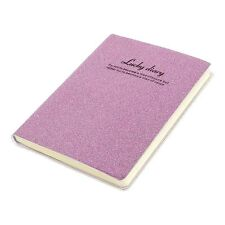 PVC Cover Pink Glitter Powder Decor Diary Memo Book Notepad 80 Sheets B8X1