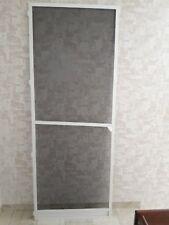 Insektenschutz Tür Alu-Rahmen ca. 85 x 230 cm in weiß, Fliegengitter schwarz
