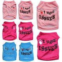 New Pet Dog Cat Spring Summer Clothes T Shirt Puppy Cotton Vest Coat Costumes