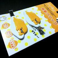 SANRIO Gudetama hair clip accessory relief item 2 pieces set
