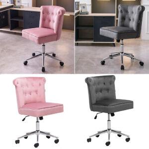 Velvet Home Office Chair Adjustable Computer Desk Chair Swivel Cushioned Seat UK