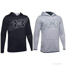 NWT$40 Under Armour Coldgear Youth Boy's Fleece Big Logo Hoodie 1343273