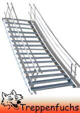 16 Stufen Stahltreppe beidseitigem Geländer Breite 70 cm Geschosshöhe 274-340cm