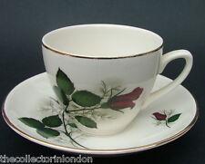 Vintage 1950's Swinnertons Single Red Rose Tea Cups & Saucers Look in VGC