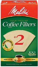 Melitta 600 Count, #2, Natural Brown Cone Coffee Filter