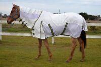 "RUMANI Summer Poly Cotton Mesh HYBRID Sheet Paddock Horse Rug COMBO 4'6"" - 7'0"""