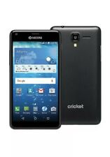 """Kyocera Hydro  """"C6742""""  5'' CRICKET Android Smartphone black New Fast shipping"""