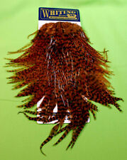 Whiting American Hackle Rooster Saddle Trout Fly Tying Hackle Grizzly Brown