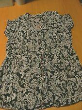 Damen Bluse, Tunika, braun weiß, Größe 36/ S