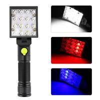 16 LEDs Light Magnet USB Rechargeable Work Light Torch Flashlight Lamp w/ Hook
