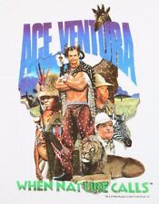 S * NOS vtg 90s 1994 ACE VENTURA movie t shirt * pet detective * AVYL