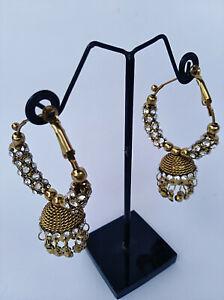 Ethnic Indian Gold Plated Fashion Bollywood Jewelry Jhumka Jhumki Earrings