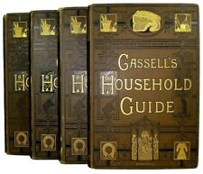 ANTIQUE VICTORIAN COOK BOOK RECIPES DECORATION ART NEEDLE FANCY WORK HOME FARM