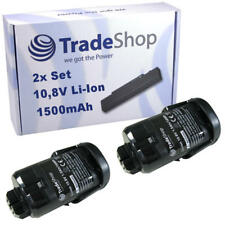 2x Trade-Shop Premium AKKU 10,8V 1500mAh Li-Ion für Dremel 8200, 8220, 8300