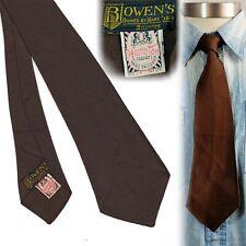 1930s Solid Brown Hampton Cravat Vintage Necktie Art Deco Swing Tie