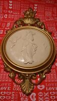 Vintage Ornate Cameo Picture Victorian Gold Elegant Resin Frame Made in USA  277