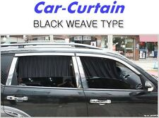 Car Window Curtain Sunshade Black Weave Type UV Protection 2P Made in Korea