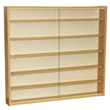 REVEAL 6 Shelf Glass Wall Display Unit Oak MC0500