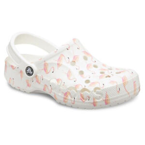 NWT Crocs Baya Seasonal Printed Clogs Flamingos 206230-1CW SZ Men's 5 Women's 7