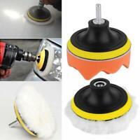5pcs High Polishing Buffer Pad Set Kit & Drill Adapter For Car Polish Tool