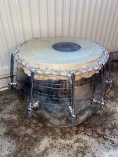 More details for rare vintage tabla drum - indian percussion drum - very rare - metal - excellent