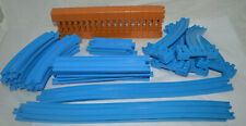 Lot of Vintage Tomy Thomas Train Blue Track, Risers & Supports - 52 Pieces Total