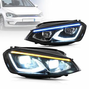 VLAND LED Projector Headlights For Volkswagen(VW) Golf MK7 2014-17 W/Sequential