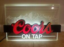Vintage 1985 Coors On Tap Lighted Beer Bar Sign
