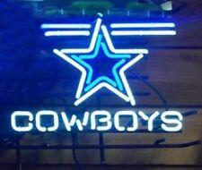 "Neon Light Sign 32""x24"" Dallas Cowboys Beer Bar Artwork Decor Lamp"