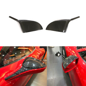 Fits Ferrari 458 2011-2016 Side Mirror Cover Cap Carbon Fiber Add on 2PCS