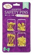 SAFETY PINS SEWING BOX SAFETY PINS GOLD TONE METAL SEWING ART & CRAFT 80PCS