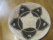 Cesta De Diseño Tejidos A Mano yuca Southwestern Estrella Negro con yuca natural 13 en