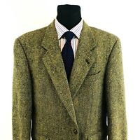Harris Tweed 100%Wolle Braune Jacke Blazer Größe US/UK 44 Eu 54