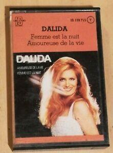 DALIDA TRES RARE K7 CASSETTE AUDIO 1976 d'origine très bon états