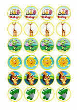 24 x  Baby TV Cup Cake Toppers ICING
