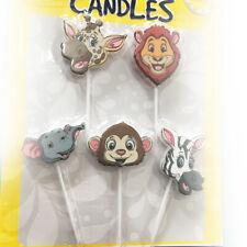 Candeline Animali Giungla Picks 5pz