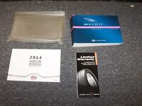 2014 Kia Forte Sedan Owner Owner's User Guide Manual Book Set LX EX 2.0L 1.8L