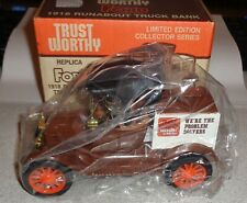 Trust Worthy Replica Ford 1918 Runabout Truck Bank 1:25 Scale New in Box
