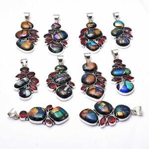 Fancy Dichroic Glass Garnet 10 pcs Wholesale Lot  Pendant Jewelry Lot-1628