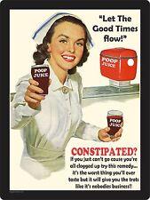 POOP JUICE  - Funny Vintage Replica Sign, home decor, retro, signs, mancave,