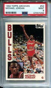 Michael Jordan 1992-93 Topps Archives #52 Base Card PSA 9 MINT Chicago Bulls